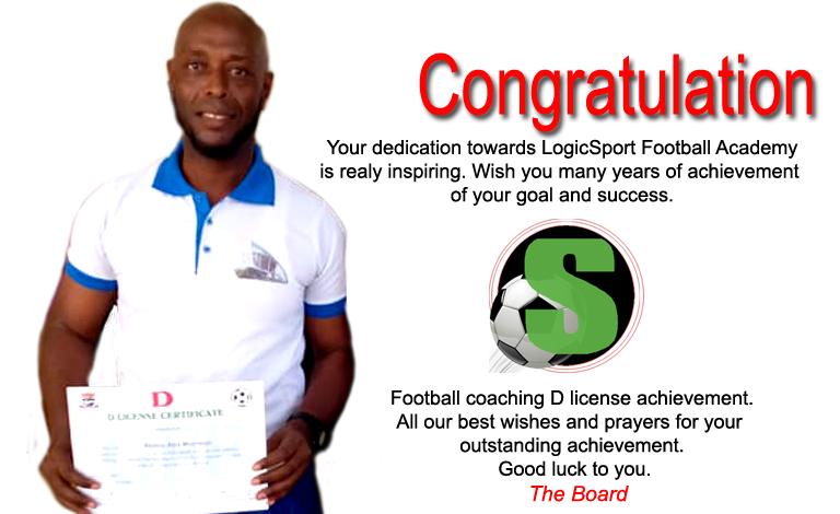 Congrats to our Head Coach Mr. A. Morisson